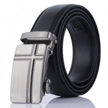 Luxury Men Formal Automatic Buckle Belt Cross Design