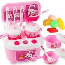 16 in 1 Premium Children Kitchen Cooking Toy Set Fun Utensil Playset PINK