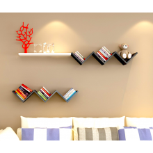 Zig Zag W Shaped Wall Shelf Book Shelf