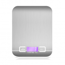Premium Ultra Thin Stainless Steel Digital Kitchen Scale White