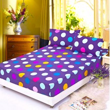 Premium Fitted 3-in-1 Polka Dot Design Queen Size Bed Sheet