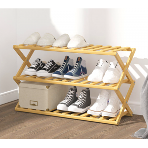 Bamboo Retractable Shoes Rack Book Rack