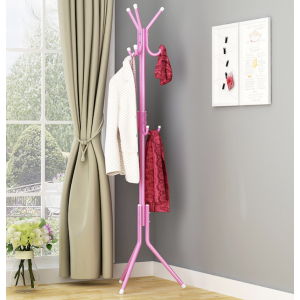 SANDY Standing Entryway Coat Rack - Tree Hat Hanger Metal Base Tree Stand Holder with Hooks for Hanging Suits Accessories Hat Hook Stand
