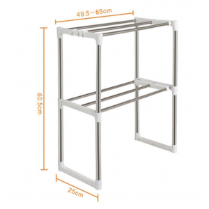 Multipurpose 2 Tier Telescopic Microwave Rack Kitchen Rack