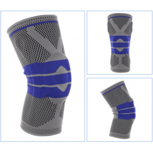Grey Elastic Knee Support Brace Kneepad Adjustable Patella Knee Pads Basketball Safety Guard Strap Protector Silica Gel