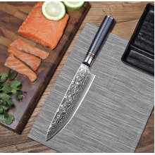 67 Layers Rain Drops Damascus Chef Knife With Resin Handle With Gift Box